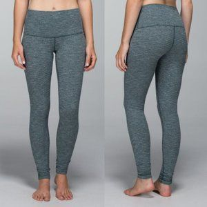 Lululemon Green Coco Pique High Rise Wunder Unders